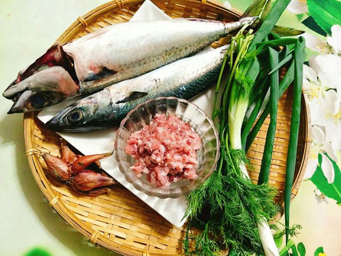 Các nguyên liệu cơ bản cho món chả cá thu